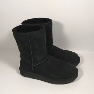 Ugg Classic Short (1016223) Black Boots Women 10